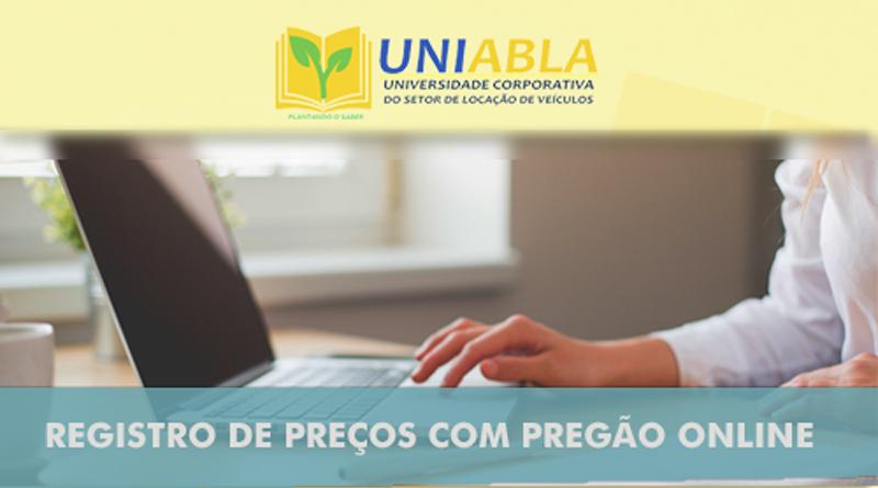 """UNIABLA promoverá em João Pessoa-PB dia 25/10 o curso """"Registro de Preços com Pregão Online"""""""