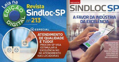 Chegou a edição 213 da Revista do SINDLOC-SP