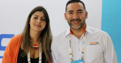 Geize Santos e Marcelo Rodrigues, ambos da Movida (Foto: Vanessa Leal)