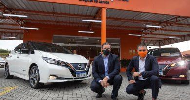 Pioneira em mobilidade elétrica, Movida fecha acordo exclusivo para aluguel do Nissan LEAF. Foto: Divulgação/Movida